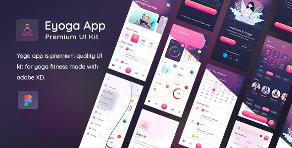 Yogaa App Premium UI Kit For Figma - Figma UI Templates