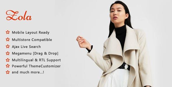Zola - Minimalist Fashion Shop PrestaShop 1.7 Theme