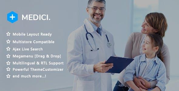 Medici - Medical Pharmacy and Healthcare Clinic PrestaShop 1.7 Theme