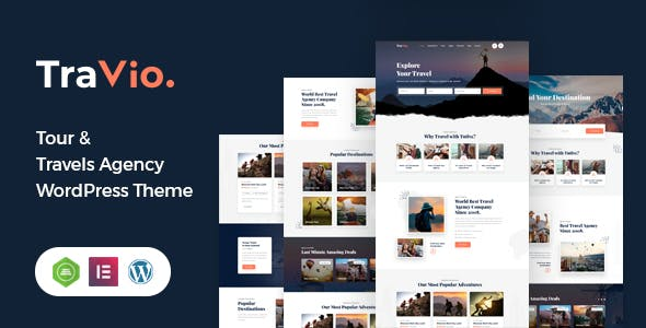 Travio – Travel Agencies WordPress Theme