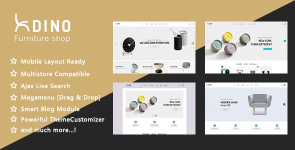 Dino - Luxury Furniture Shop PrestaShop 1.7 Theme