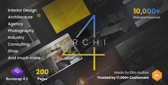Archi - Interior Design & Multi-Purpose Website Template - Creative Site Templates