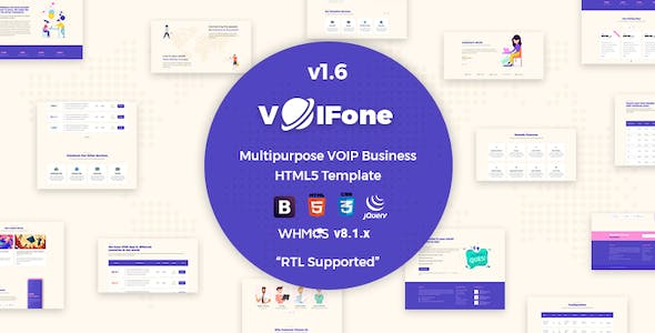 Voifone | Multipurpose VOIP Business HTML5 Template