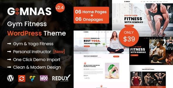 Gimnas - Gym Fitness WordPress Theme - Health & Beauty Retail