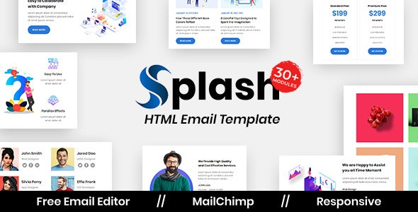 Splash Agency - Multipurpose Responsive Email Template - Newsletters Email Templates