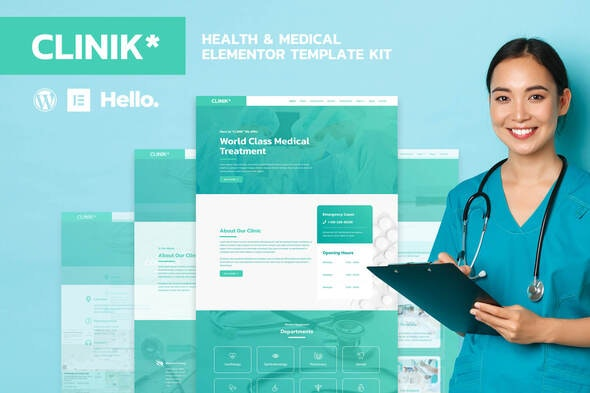 CLINIK - Hospital & Clinical Health Care Elementor Template Kit - Health & Medical Elementor