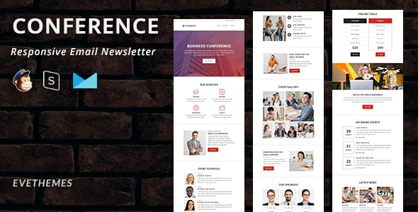 Conference - Responsive Email Newsletter - Newsletters Email Templates