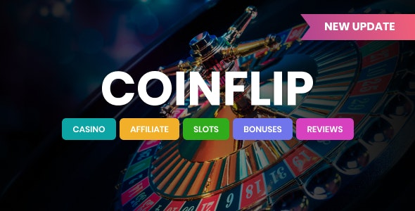 Coinflip v1.9 – Casino Affiliate & Gambling WordPress Theme