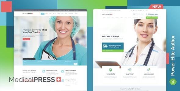 MedicalPress - Health WordPress Theme - Health & Beauty Retail