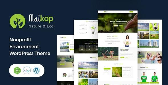 Maikop - Environment WordPress Theme - Environmental Nonprofit