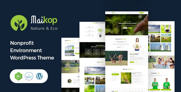 Maikop - Environment WordPress Theme