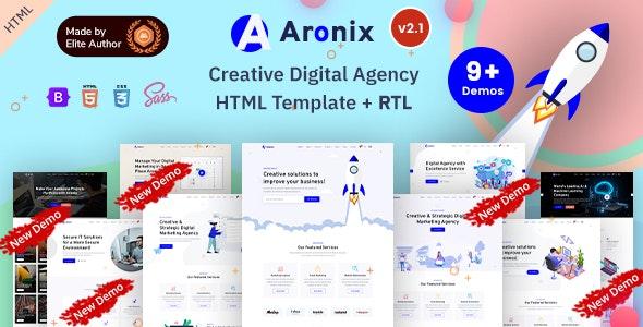 Aronix - IT & SEO Startup Bootstrap 5 Template - Portfolio Creative