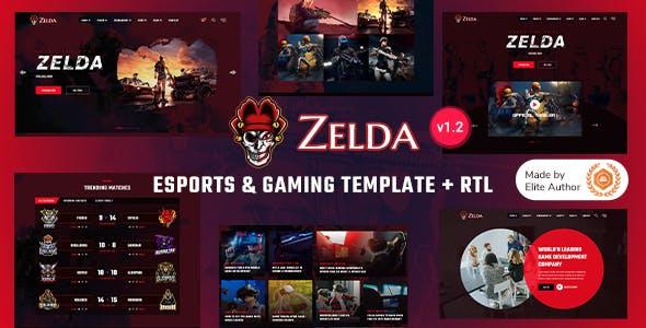 Zelda - eSports & Gaming Bootstrap 5 Template