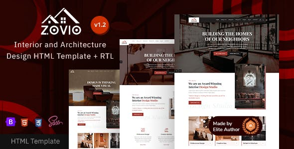 Zovio - Architecture & Interior Design Bootstrap 5 Template