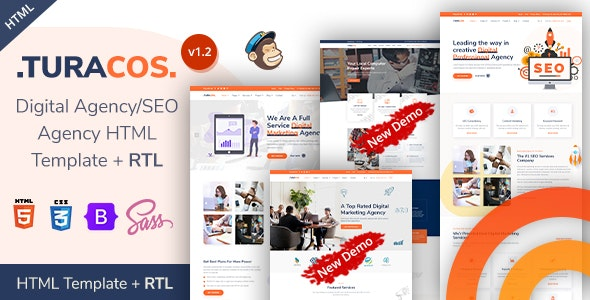 Turacos - SEO & Digital Agency Bootstrap 5 Template - Marketing Corporate
