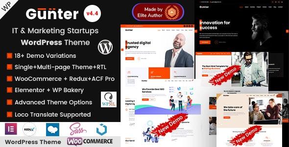 Gunter - IT & Marketing Company WordPress Theme - Corporate WordPress