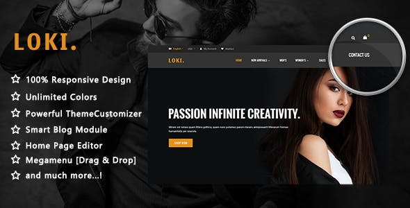 Loki - Simple Fashion Responsive PrestaShop 1.7 Theme