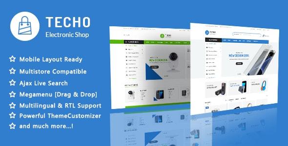 Techo - Minimalist Shopping Electronics Responsive PrestaShop 1.7 Theme - Technology PrestaShop