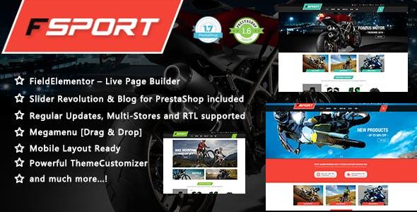 FSport - Motor & Bike Equipments PrestaShop 1.7 & 1.6 Theme