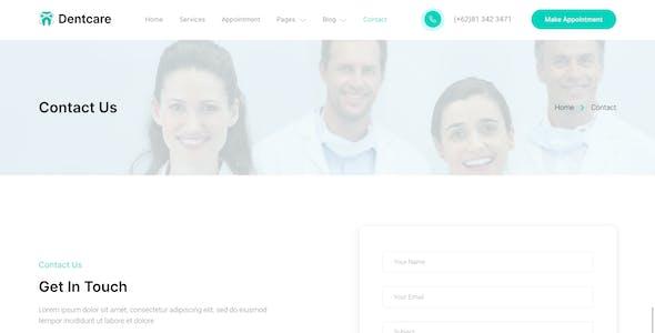 Dentcare – Dentist & Dental Clinic Elementor Template Kit