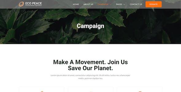 EcoPeace – Environment & Ecology NGO Elementor Template Kit