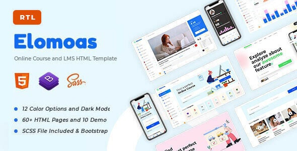 Elomoas - LMS & Online Courses Educational HTML Template - Business Corporate