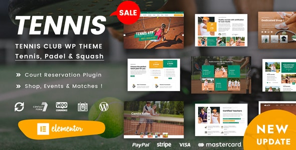 Spyn - Tennis Club WordPress Theme - Entertainment WordPress