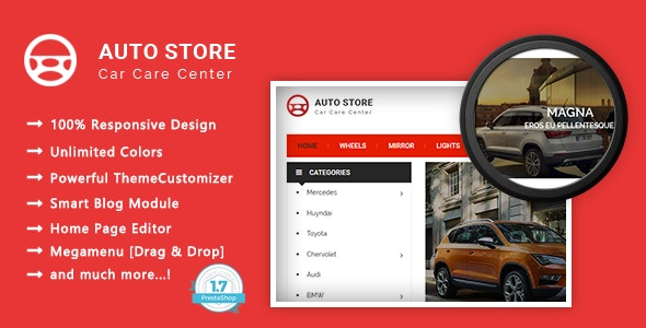 Auto Store - Carparts Responsive PrestaShop 1.7 Theme - Shopping PrestaShop