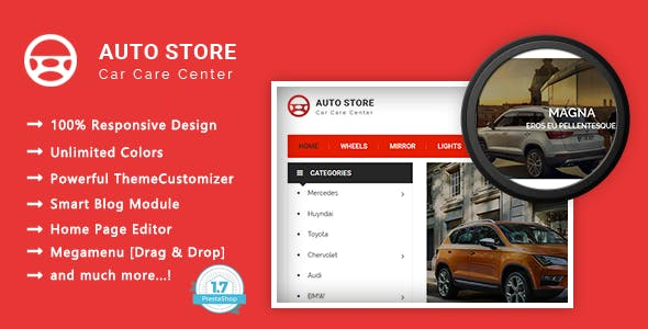 Auto Store - Carparts Responsive PrestaShop 1.7 Theme