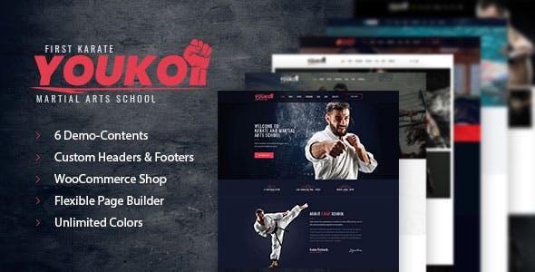 Youko - Martial Arts WordPress Theme