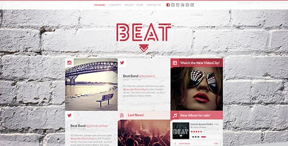 Beat - One-Page Music & Band AJAX WordPress Theme