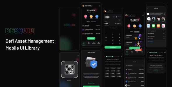DeSquid Mobile Crypto Wallet - Figma UI Templates