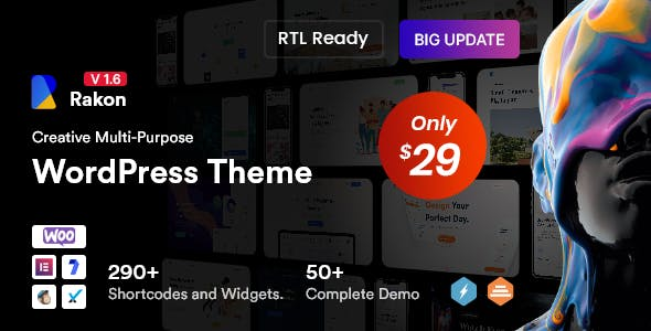 Rakon - Creative Multi-Purpose WordPress Theme