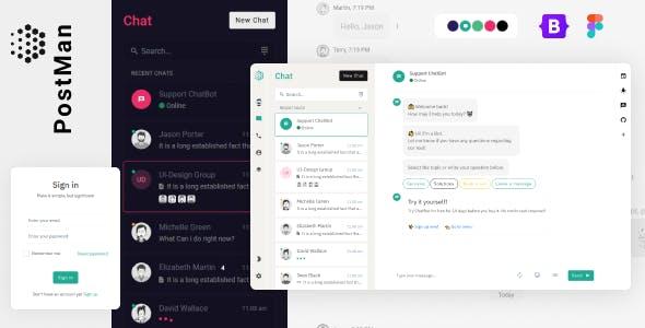 Postman - Bootstrap5, Angular, laravel, Codeigniter Admin Dashboard Template