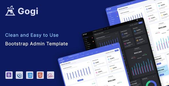 Gogi - Bootstrap 4 Admin & Dashboard Template