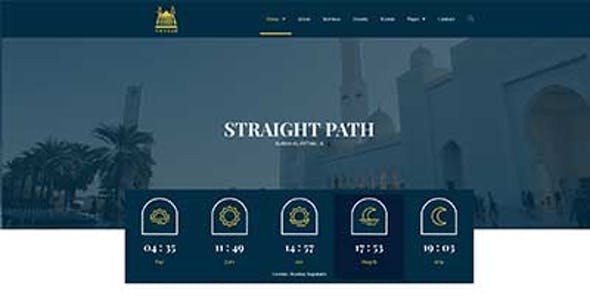 Amanah - Mosque & Islamic Center Elementor Template Kit