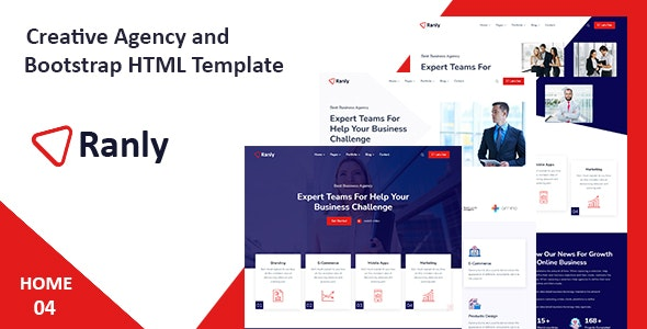 Ranly - Creative Agency Bootstrap HTML Template - Creative Site Templates