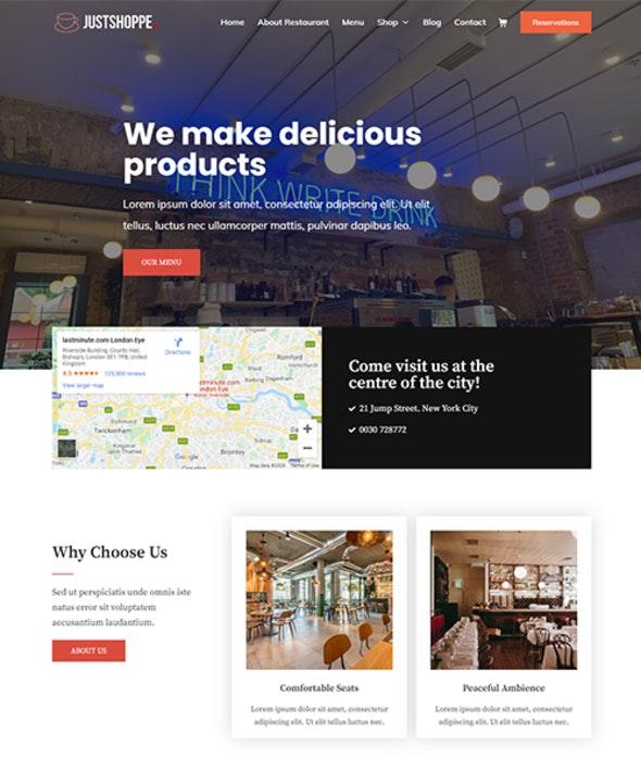 Justshoppe - Elementor Cake, Bakery & Food WordPress - Food Retail