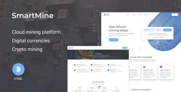 SmartMine – Crypto Mining HTML Template - Business Corporate