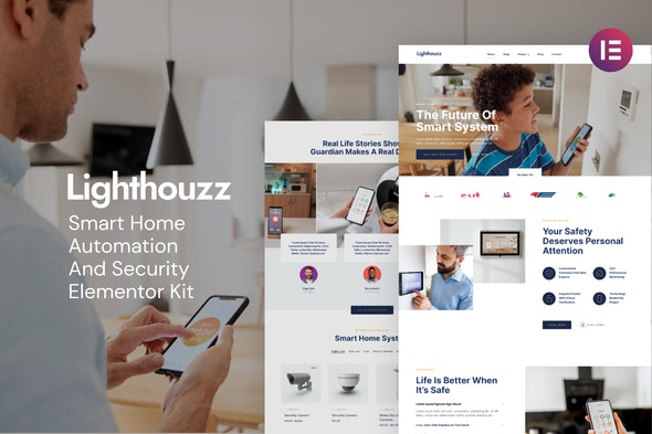 Lighthouzz – Smart Home & Security Elementor Template Kit - Business & Services Elementor
