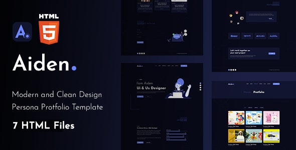 Aiden - Creative Portfolio Html Template - Site Templates