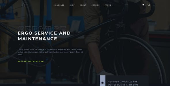 ERGO - A Versatile Bike Shop News and eCommerce Template Kit