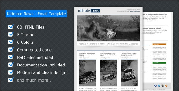 Ultimate News - Email Template - Email Templates Marketing