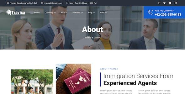 Travisa – Immigration & Visa Consulting Elementor Template Kit