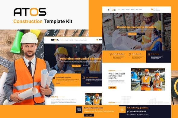 Atos - Construction Elementor Template Kit - Real Estate & Construction Elementor