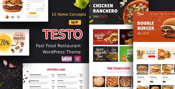 Testo - Restaurant Caffe WordPress Theme - Food Retail