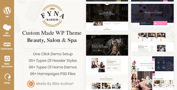 Fyna - Beauty salon and Spa WordPress Theme - Health & Beauty Retail