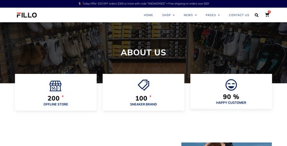 Fillo – Shoes & Sneakers Store WooCommerce Elementor Template Kit