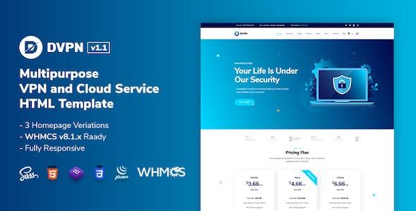 DVPN | Multipurpose VPN and Cloud Service HTML Template
