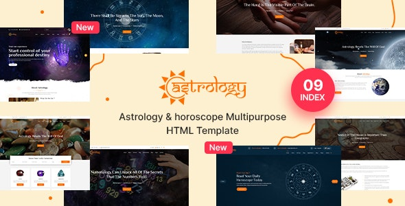 Astrology and Horoscope Responsive  HTML 5 Template - Business Corporate